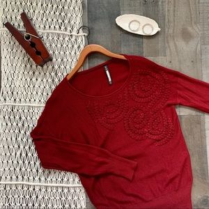 Anthro Plenty Tracie Reese Knit Applique Sweater